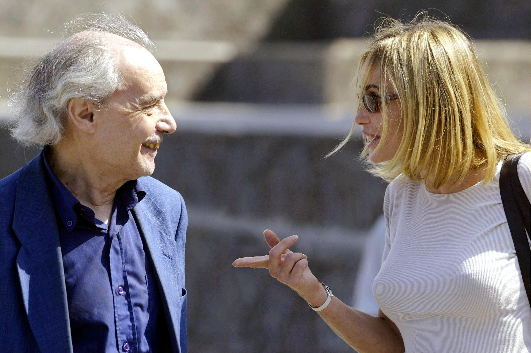 Emmanuelle Béart and Jacques Rivette at an event for Histoire de Marie et Julien (2003)