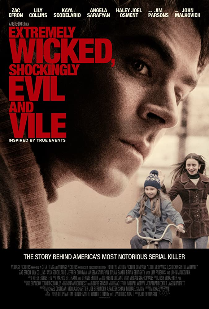 Zac Efron, Lily Collins, and Morgan Pyle in Extremely Wicked, Shockingly Evil and Vile (2019)