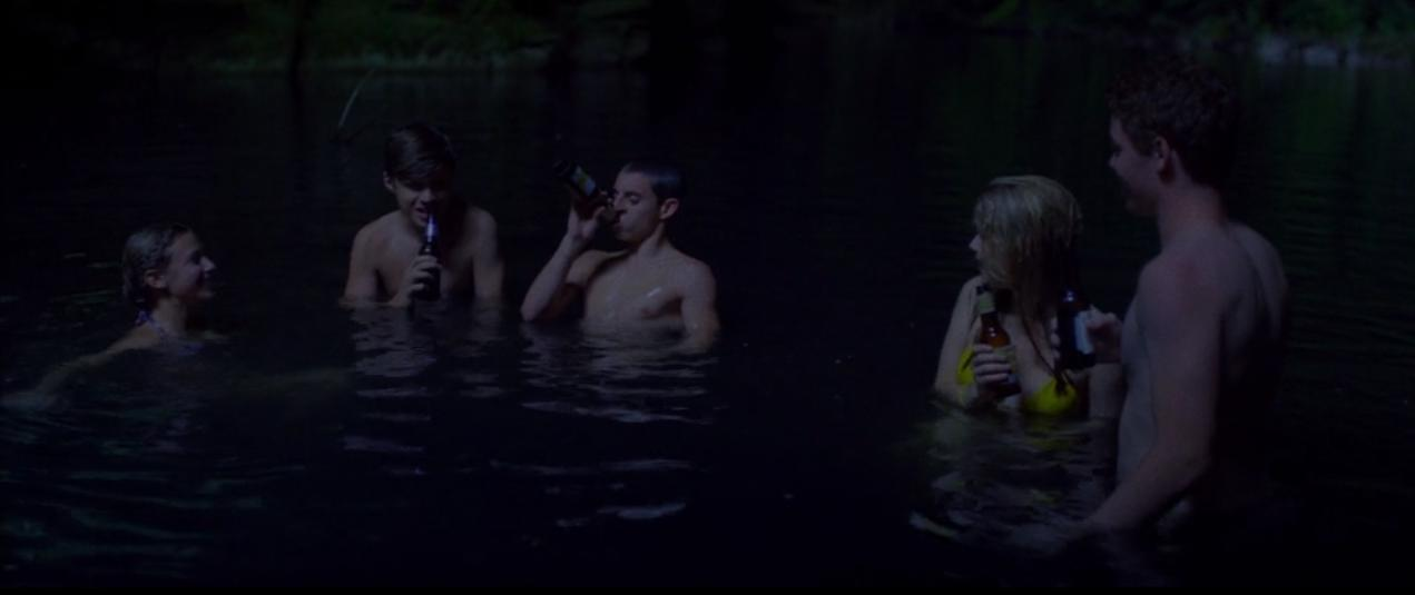 Moises Arias, Gabriel Basso, Nick Robinson, Erin Moriarty, and Lili Reinhart in The Kings of Summer (2013)