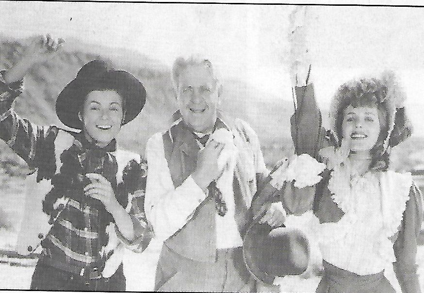 Rita Corday, Barbara Hale, and Thurston Hall in West of the Pecos (1945)