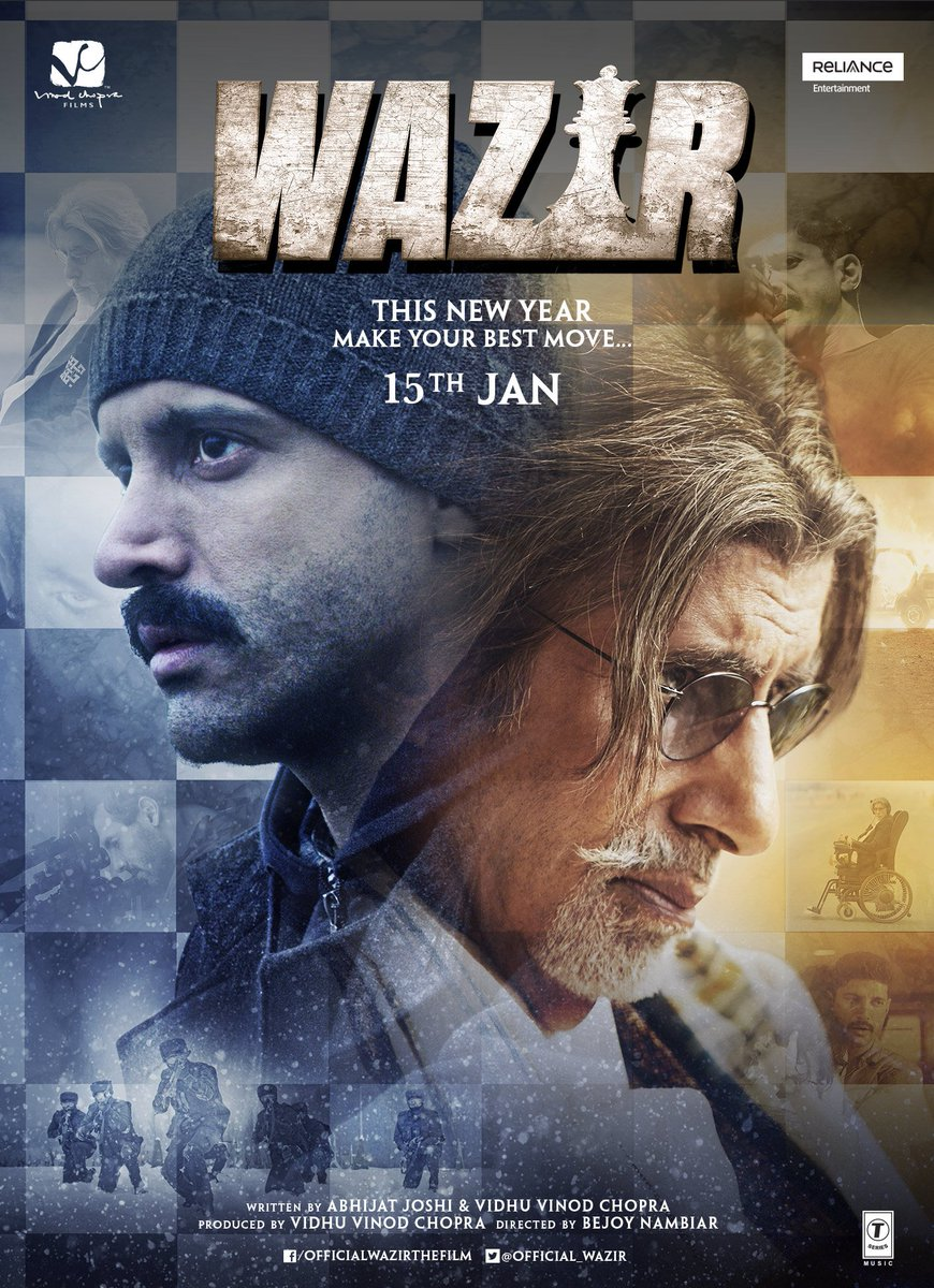 Poster of Wazir 2016 1080p Hindi BluRay Full Movie Download HD