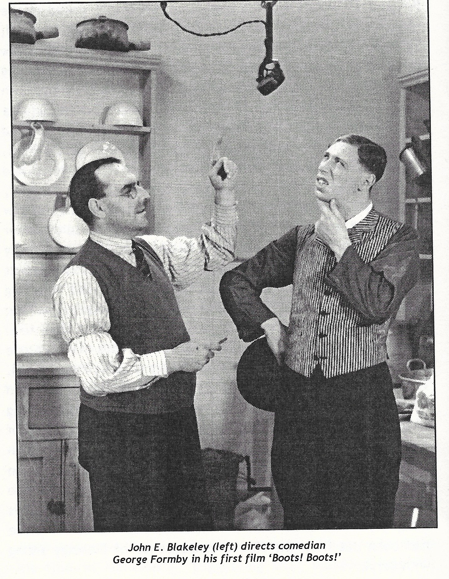 John E. Blakeley and George Formby in Boots! Boots! (1934)