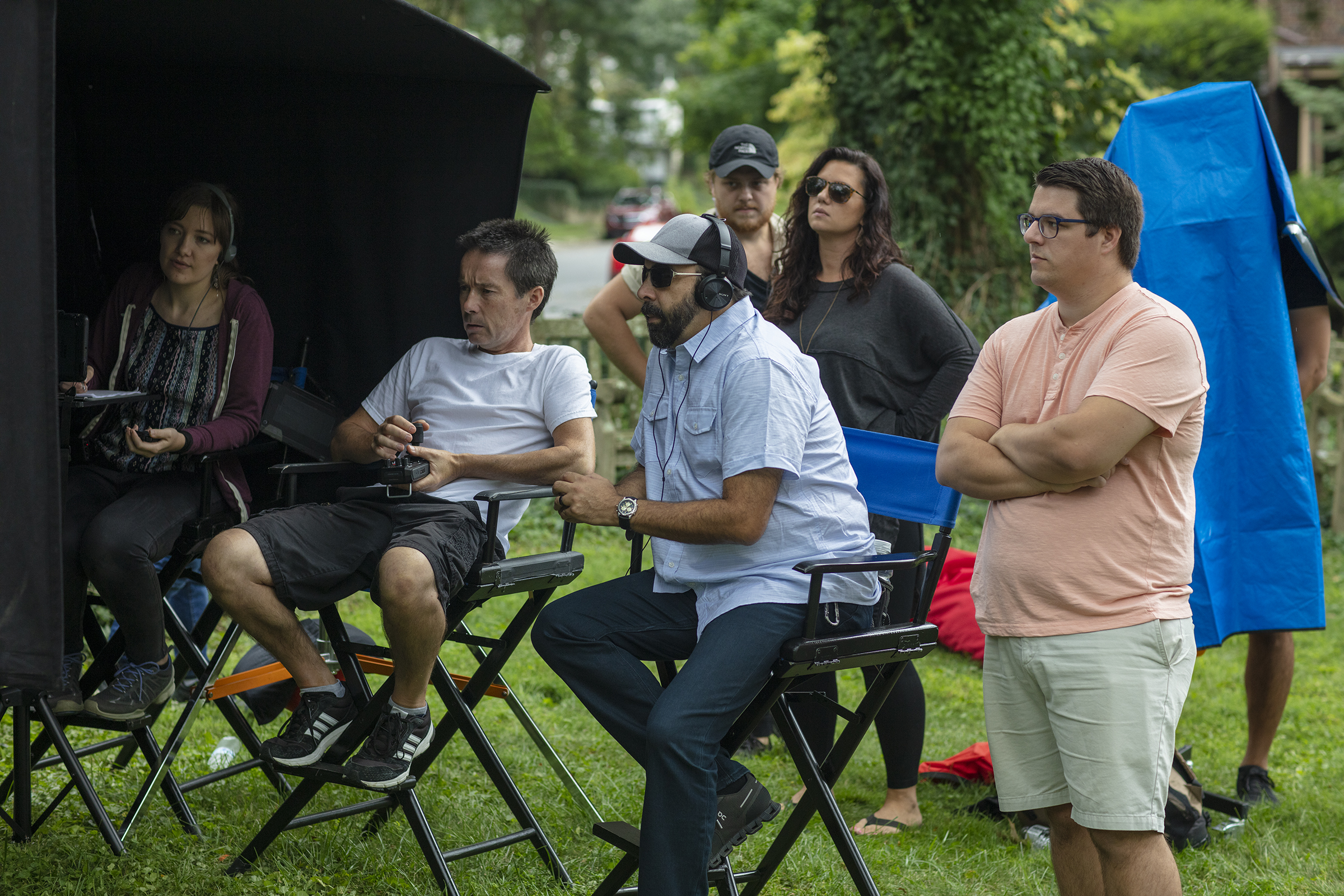 Directing on the set of Blindsided.
