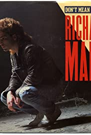 Richard Marx: Don't Mean Nothing Poster