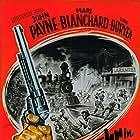 Dan Duryea, Mari Blanchard, Jesse Hibbs, and John Payne in Rails Into Laramie (1954)