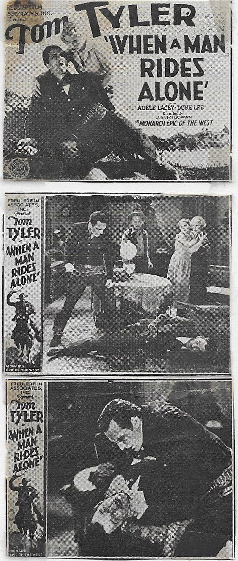 Al Bridge, Alma Chester, Adele Lacy, and Tom Tyler in When a Man Rides Alone (1933)