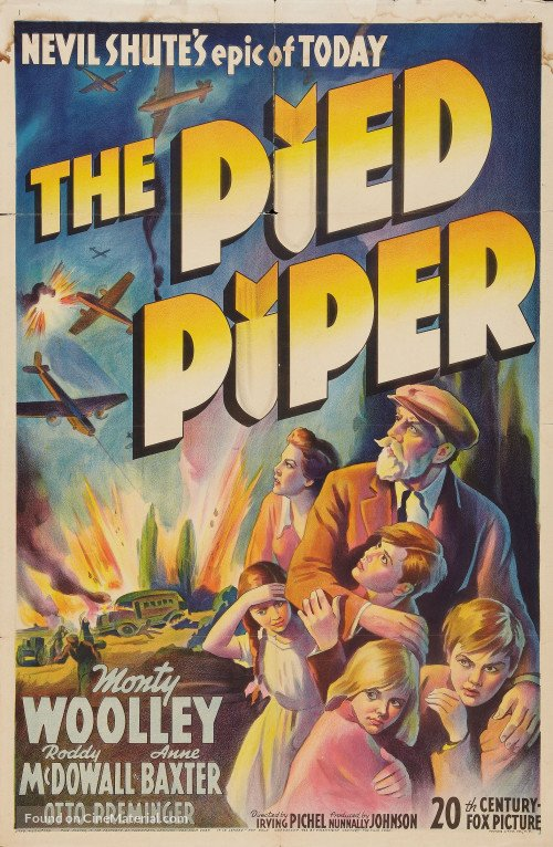 Roddy McDowall, Peggy Ann Garner, Merrill Rodin, Maurice Tauzin, Monty Woolley, and Fleurette Zama in The Pied Piper (1942)