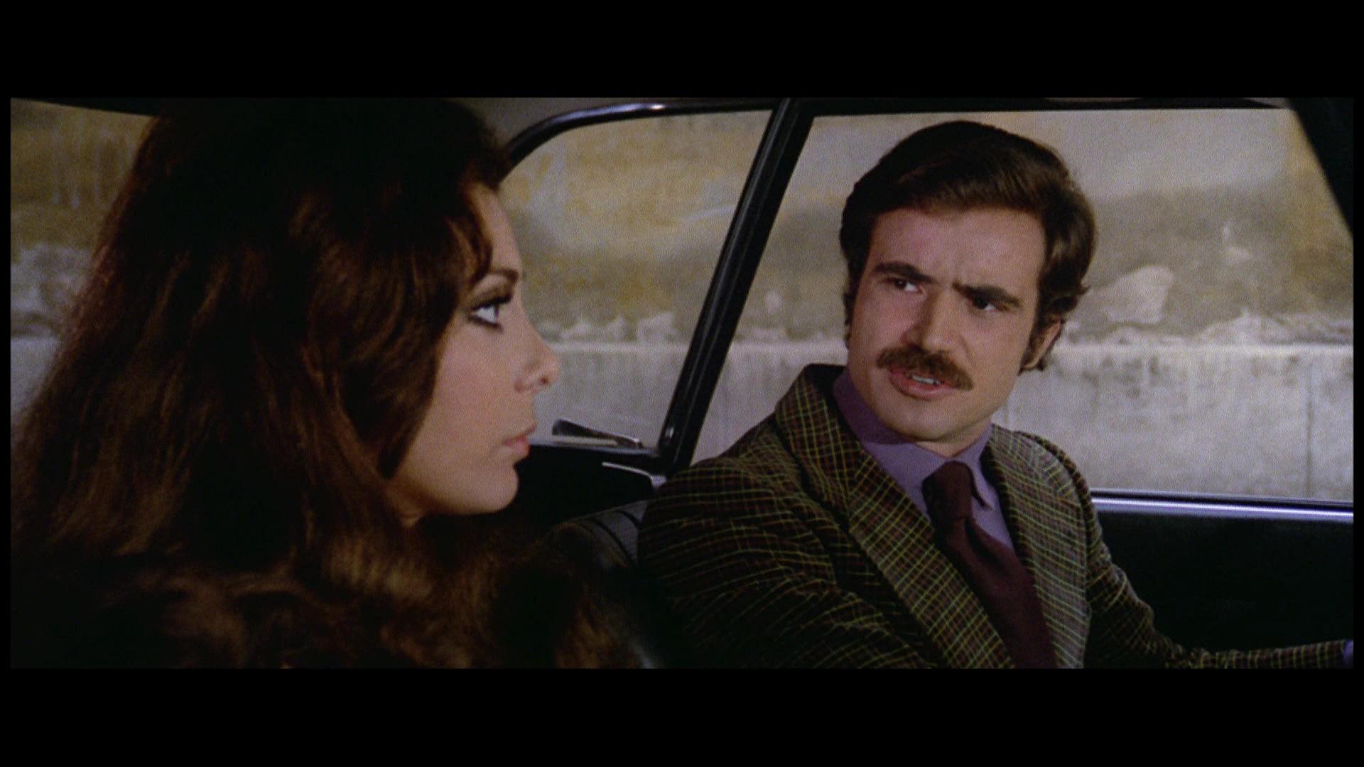 Antonio Sabato and Carla Romanelli in Milano rovente (1973)
