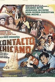 Rosa Gloria Chagoyán, Lina Michel, and Gerardo Reyes in Contacto Chicano (1981)