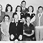 Judy Garland, Mickey Rooney, Lana Turner, Betty Ross Clarke, Fay Holden, Cecilia Parker, Gene Reynolds, Ann Rutherford, and Lewis Stone in Love Finds Andy Hardy (1938)
