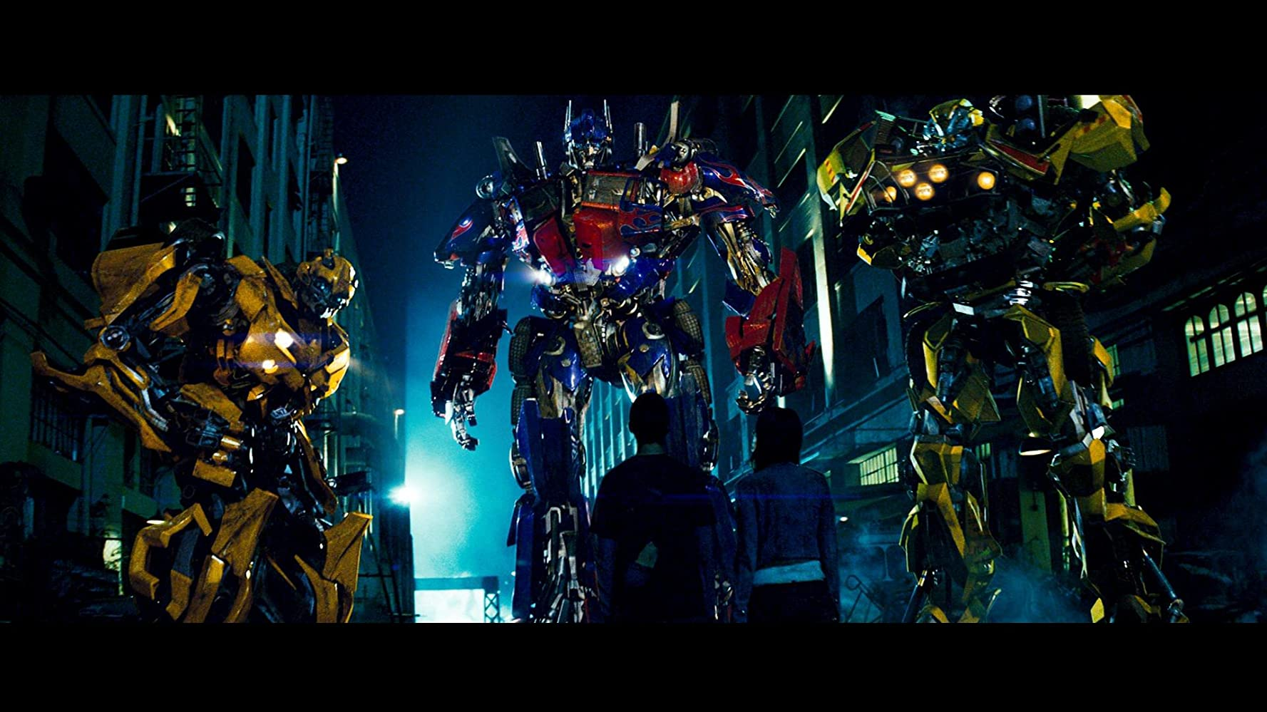 Robert Foxworth and Mark Ryan in Transformers (2007)