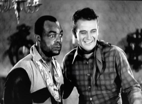 John Wayne and Blue Washington in Haunted Gold (1932)
