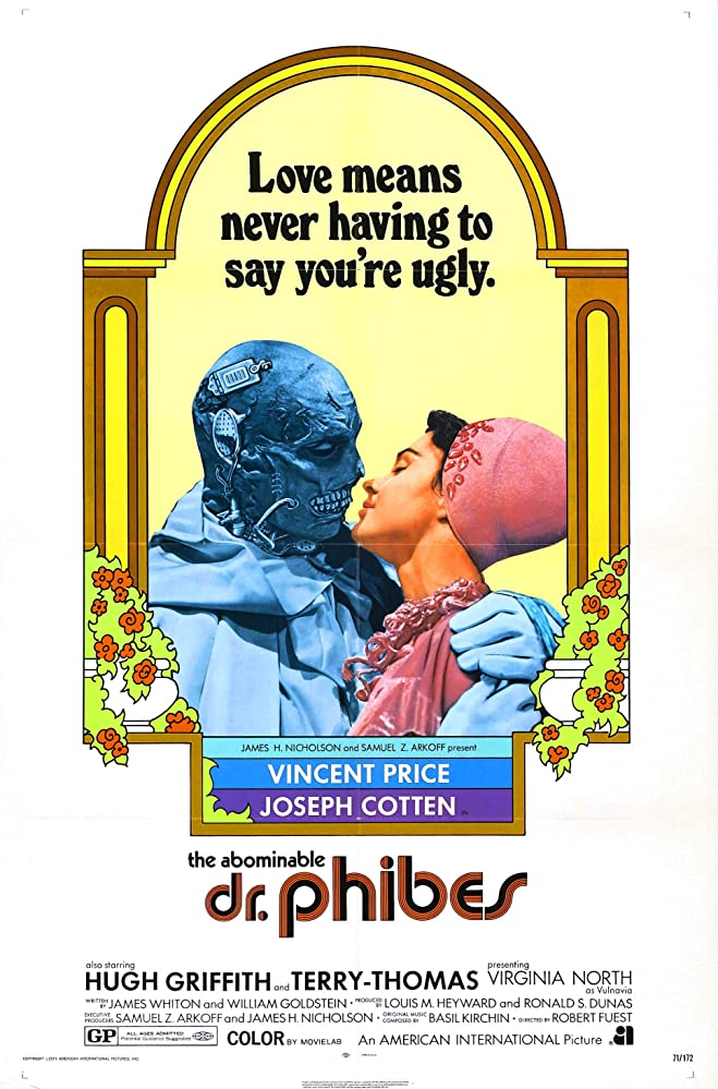 Vincent Price and Virginia North in The Abominable Dr. Phibes (1971)
