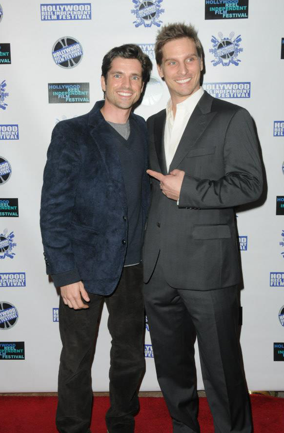 Scott Bailey and Doug Maguire at an event for Bank Roll (2012)
