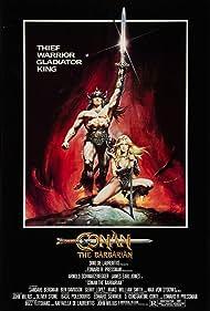 Arnold Schwarzenegger and Sandahl Bergman in Conan the Barbarian (1982)