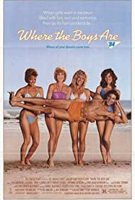 Lynn-Holly Johnson, Lisa Hartman, Lorna Luft, Wendy Schaal, and Russell Todd in Where the Boys Are (1984)