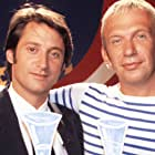 Antoine de Caunes and Jean-Paul Gaultier in Eurotrash (1993)