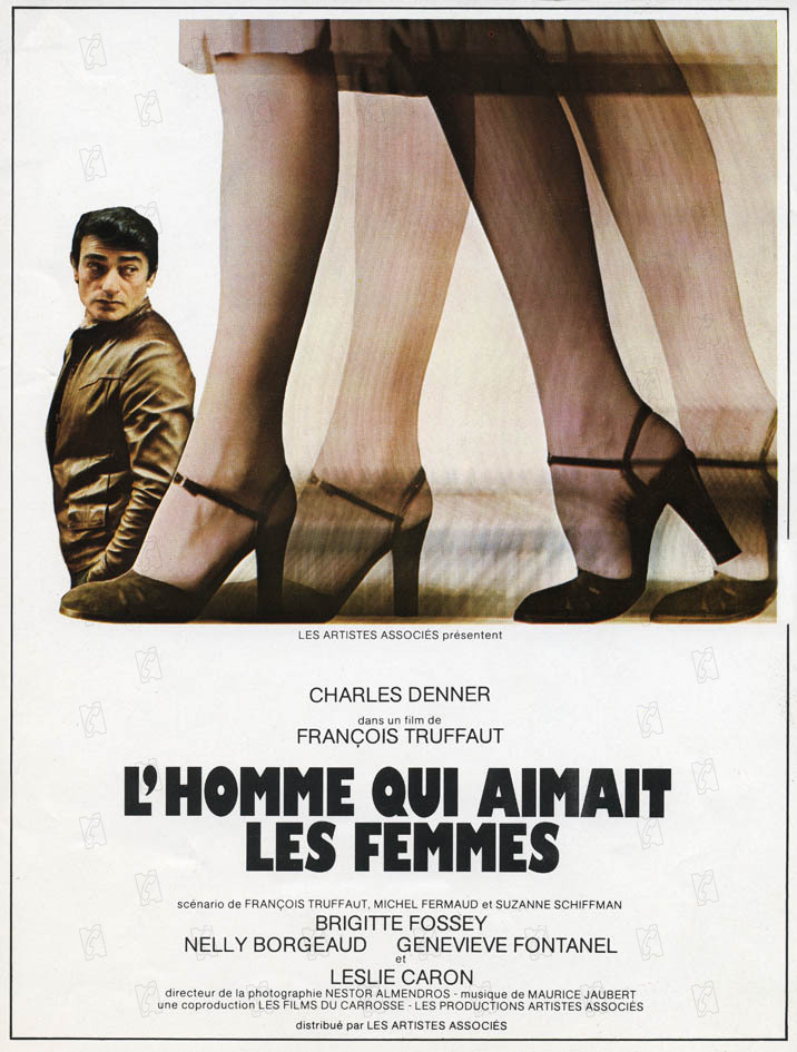 François Truffaut and Charles Denner in L'homme qui aimait les femmes (1977)