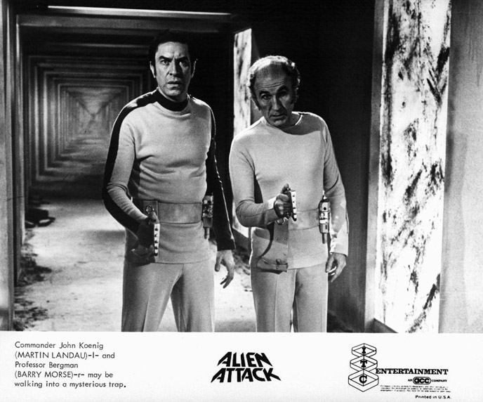 Martin Landau and Barry Morse in Alien Attack (1976)