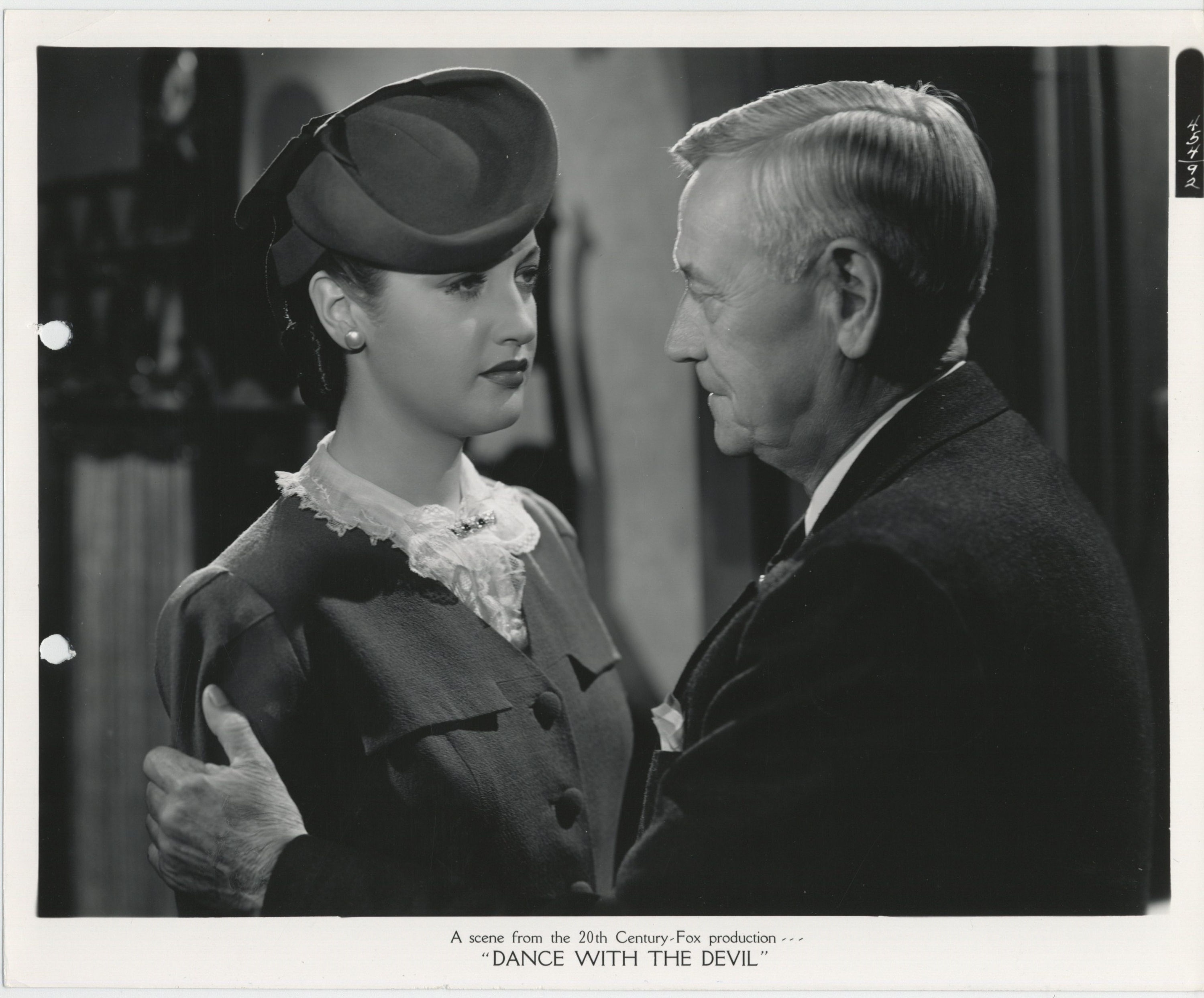 Charley Grapewin and Dorothy Lamour in Johnny Apollo (1940)