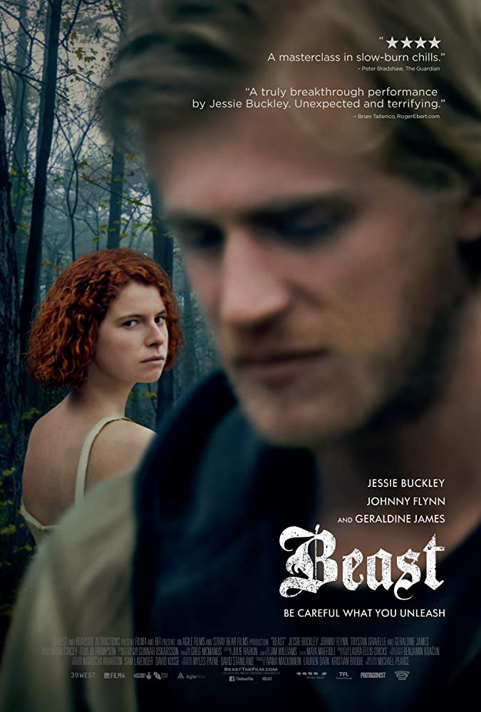 Johnny Flynn and Jessie Buckley in Beast (2017)