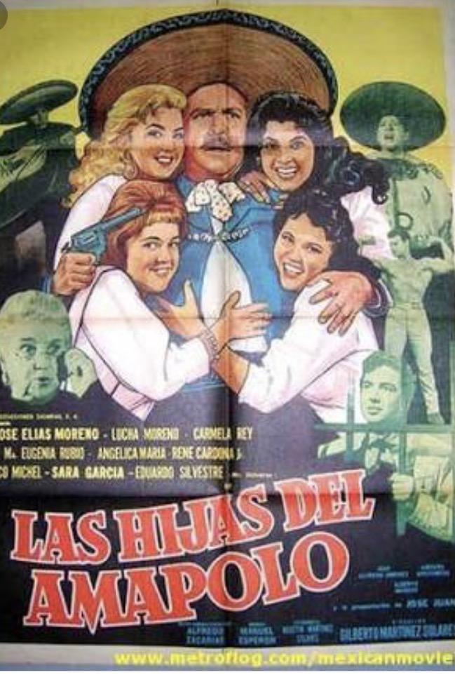 Sara García, Angélica María, José Elías Moreno, Lucha Moreno, Carmela Rey, and María Eugenia Rubio in Las hijas del Amapolo (1962)