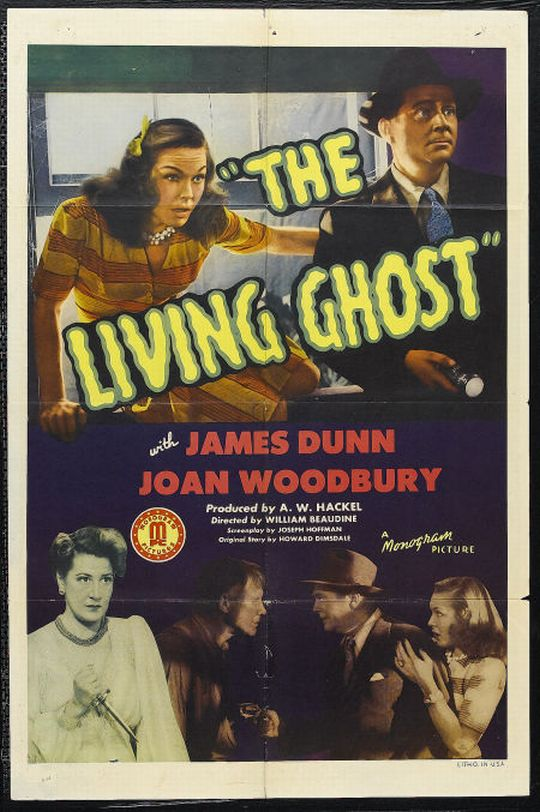 James Dunn, Vera Gordon, and Joan Woodbury in The Living Ghost (1942)