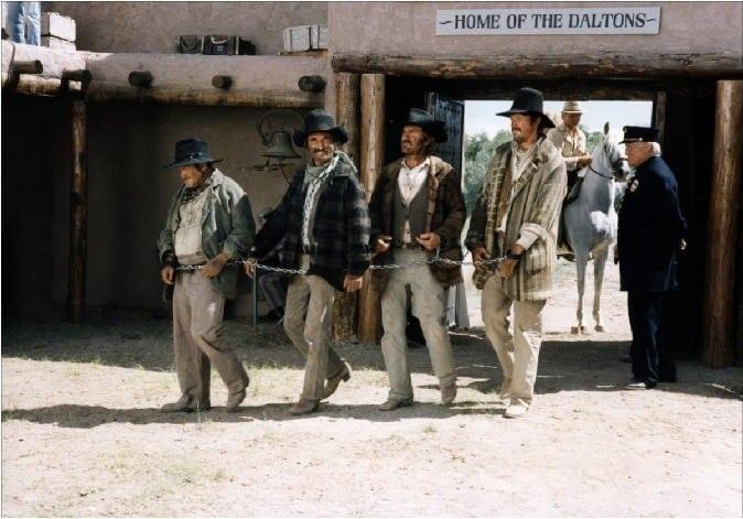 Dominic Barto, Ron Carey, Bo Greigh, and Fritz Sperberg in Lucky Luke (1991)