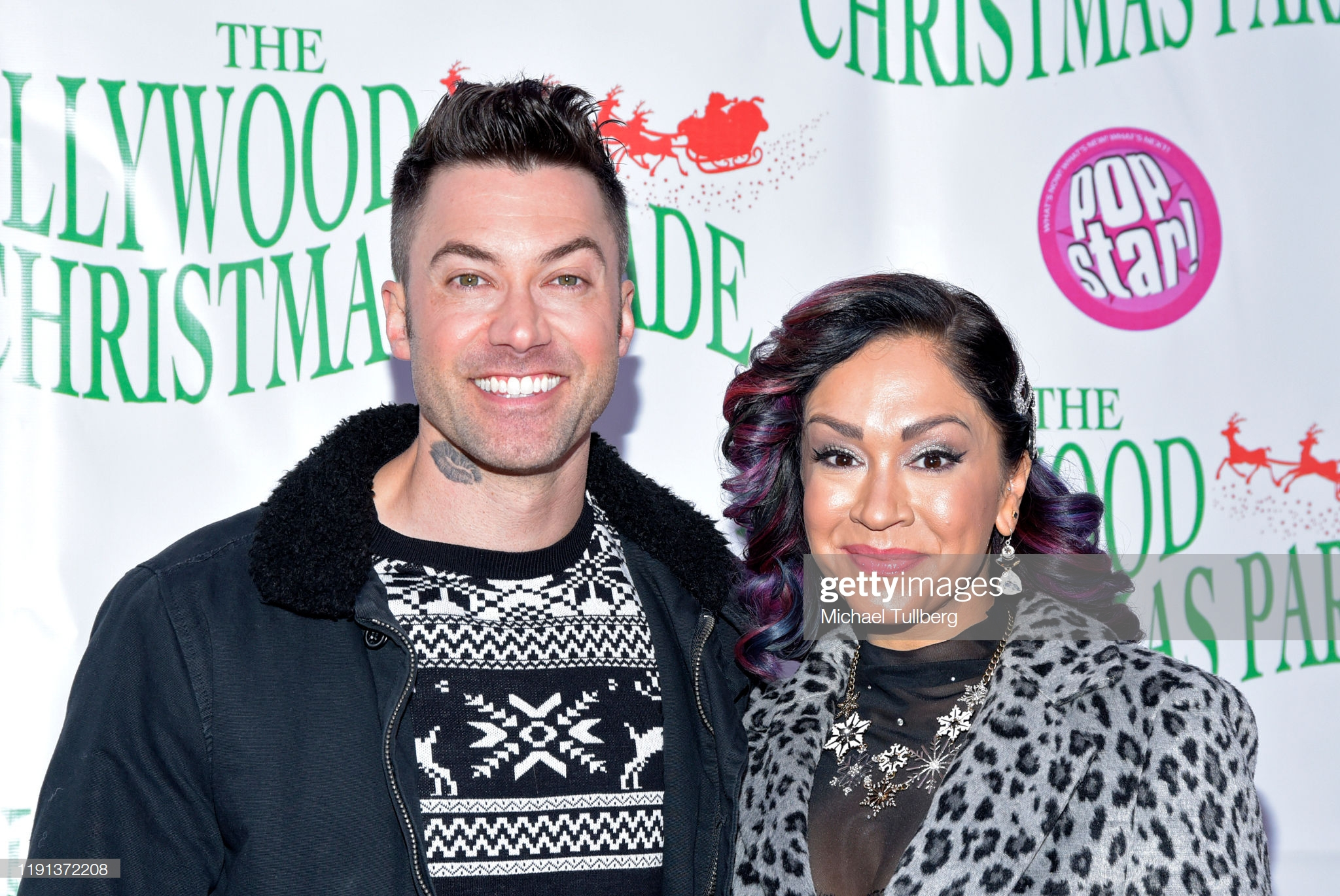 Diana DeGarmo and Ace Young at an event for 88th Annual Hollywood Christmas Parade (2019)
