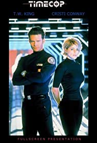 Cristi Conaway and Ted King in Timecop (1997)