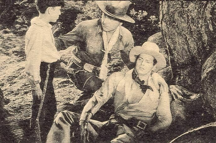 William Boyd, James Ellison, and George Mari in The Eagle's Brood (1935)