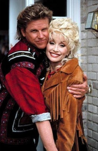 Dolly Parton and Gary Busey in Wild Texas Wind (1991)