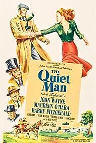 Maureen O'Hara, John Wayne, Ward Bond, and Barry Fitzgerald in The Quiet Man (1952)