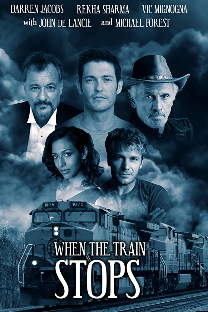 Michael Forest, John de Lancie, Vic Mignogna, Rekha Sharma, and Darren Jacobs in When the Train Stops (2019)