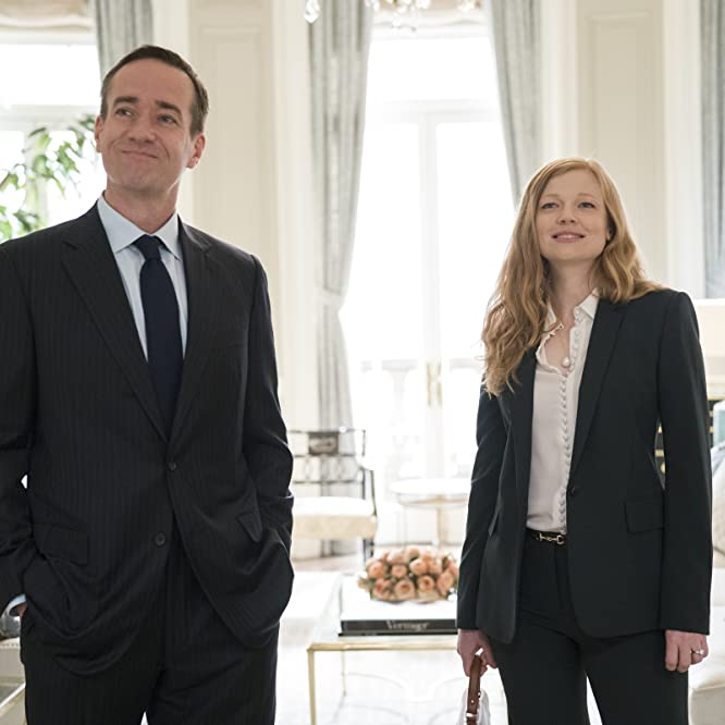 Matthew Macfadyen and Sarah Snook in Succession (2018)
