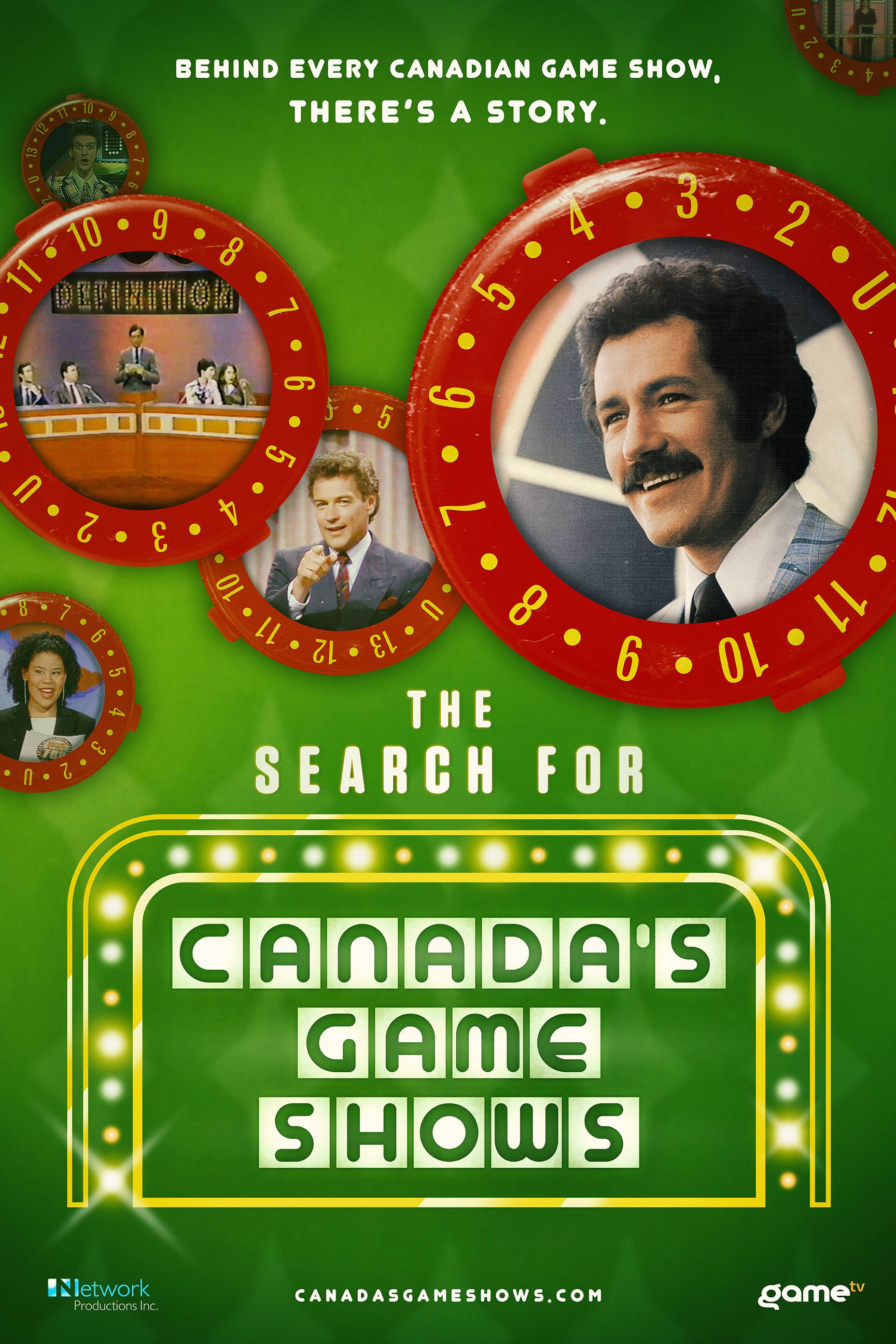 Wayne Cox, Jim Perry, Alex Trebek, Scott Yaphe, and Nicole Stamp in The Search for Canada's Game Shows (2020)