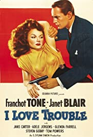 I Love Trouble(1948) Poster - Movie Forum, Cast, Reviews