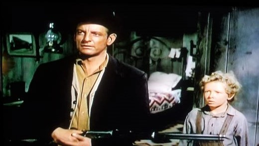 Jimmy Hunt and Denver Pyle in The Lone Hand (1953)
