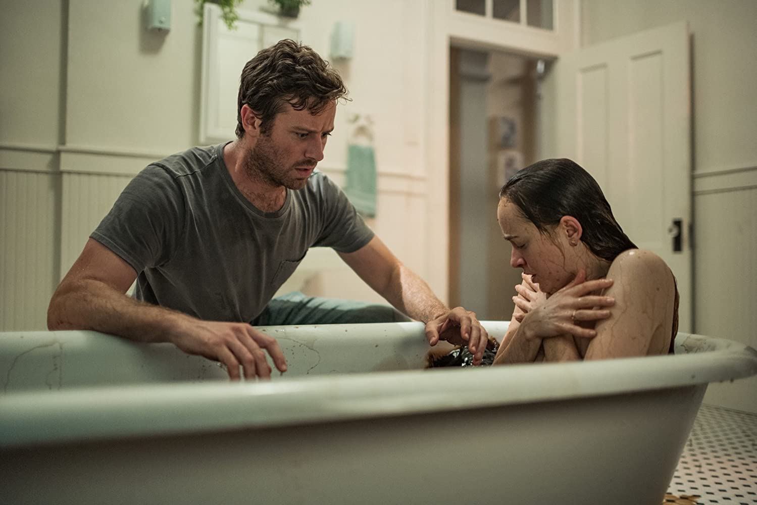 Dakota Johnson and Armie Hammer in Wounds (2019)