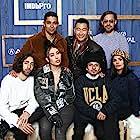Wilmer Valderrama, Daniel Dae Kim, Moises Arias, Mateo Arias, Esteban Arango, Diane Guerrero, and Kali Uchis at an event for Blast Beat (2020)