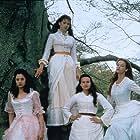 Mira Sorvino, Carla Gugino, Alison Elliott, and Rya Kihlstedt in The Buccaneers (1995)