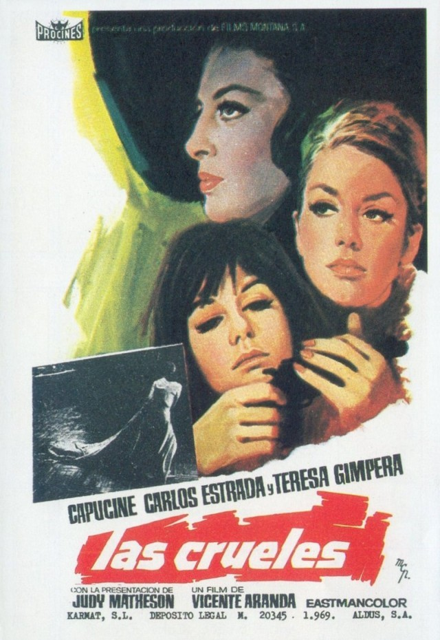 Capucine, Teresa Gimpera, and Judy Matheson in Las crueles (1969)