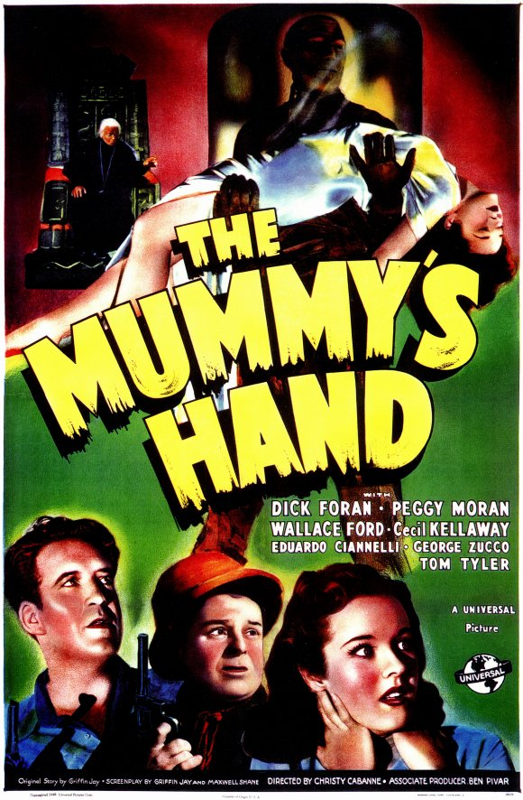 Dick Foran, Wallace Ford, and Peggy Moran in The Mummy's Hand (1940)