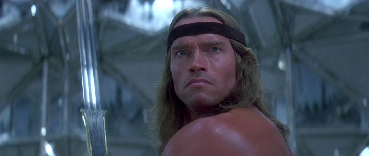 Arnold Schwarzenegger in Conan the Destroyer 1984