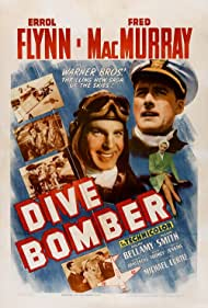 Errol Flynn, Fred MacMurray, and Alexis Smith in Dive Bomber (1941)