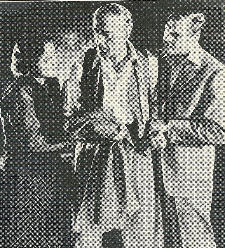 Richard Lancaster, Blanche Mehaffey, and Bruce Warren in Held for Ransom (1938)