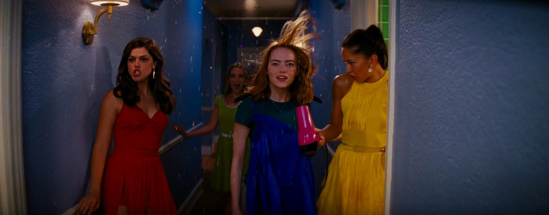 Emma Stone, Jessica Rothe, Sonoya Mizuno, and Callie Hernandez in La La Land (2016)
