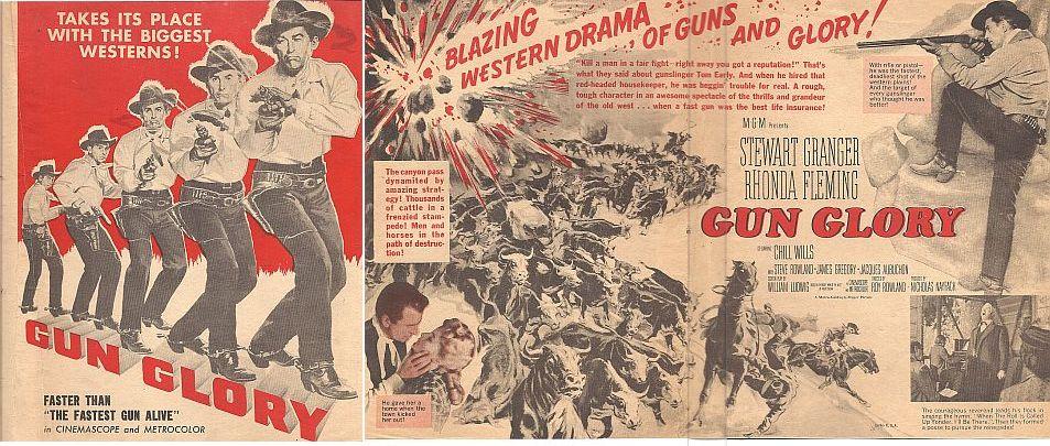 Stewart Granger and Rhonda Fleming in Gun Glory (1957)