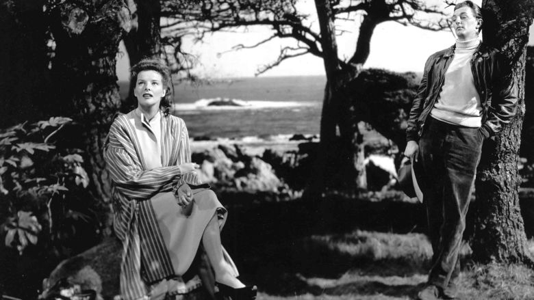 Katharine Hepburn and Robert Mitchum in Undercurrent (1946)