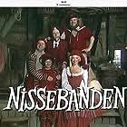Arne Hansen, Flemming Jensen, Lars Knutzon, Kirsten Lehfeldt, and Kirsten Peüliche in Nissebanden (1984)